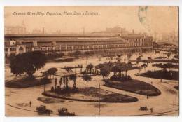 AMERICA ARGENTINA BUENOS AIRES ONEE SQUARE AND STATION OLD POSTCARD 1924. - Argentina