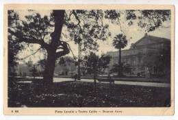 AMERICA ARGENTINA BUENOS AIRES LAVALE SQUARE AND COLON THEATRE Nr. 168 OLD POSTCARD 1926. - Argentina