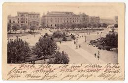 AMERICA ARGENTINA BUENOS AIRES 25. MAY SQUARE WITH THE NEW ITALIAN BANK AND THE NATIONAL BANK OLD POSTCARD 1903. - Argentina