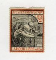 VIGNETTE 1905 LA HOUILLÈRE AU VIEUX LIÈGE# HOUILLERES MINES # EXPOSITION UNIVERSELLE LIÈGE # MINE # MARC ANTOINE