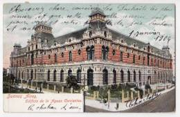 AMERICA ARGENTINA BUENOS AIRES BUILDING OF THE WATERS CURRENTS FOLDED OLD POSTCARD 1904. - Argentina