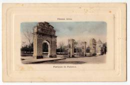 AMERICA ARGENTINA BUENOS AIRES GATES OF PALERMO FOTO IN RELIEF FRAME OLD POSTCARD - Argentina