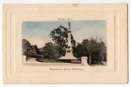 AMERICA ARGENTINA BUENOS AIRES ALEVAR MONUMENT RECOLETA FOTO IN RELIEF FRAME OLD POSTCARD - Argentina