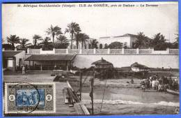 SENEGAL, ILE DE GOREE - PRES DE DAKAR - LA TERASSE, 1910-1930 - Senegal