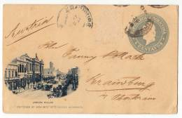 AMERICA ARGENTINA BUENOS AIRES CALLAO AVENUE OLD POSTCARD 1898. - Argentina