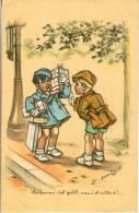 Bouret Germaine Signe Artist, Illustrateur.   Enfants  Old Postcard. Cpa 1938 - Bouret, Germaine