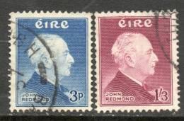 Ireland 1957 - Birth Centenary Of John Redmond SG164-165 VGU-FU Cat £16.10 SG2015 - Unclassified