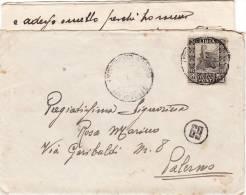 BENGASI /  PALERMO  27.2.1938 - Cover _ Lettera - Cent. 50 - Storia Postale