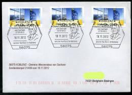 25829) BRD - SoST-Brief - 21/439 Aus 56075 KOBLENZ Vom 18.11.2012 - Clemens Wenzeslaus Von Sachsen, Letzter Kurfürst - Machine Stamps (ATM)