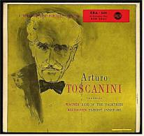 Single Vinyl 45 Rpm  - Arturo Toscanini  -  Wagner : Ride Of The Valkyries / Beethoven : Egmont Overture - Klassik