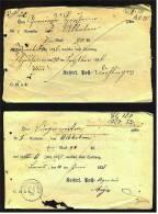 2 Original Post-Quittungen Für Zeitungen - 1876 + 1878  ,  Kaiserl. Post - ...-1849 Vorphilatelie