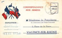 CPFM 1940 - Association Dames Françaises Valence - Marcofilia (sobres)