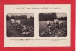 LIANCOURT(60) / AGRICULTURE / MATERIEL AGRICOLE / Etablissements BAJAC/Labourage Au Brabant BAJAC Avec Enfouisseur Etc.. - Liancourt