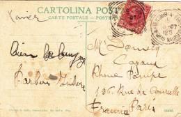 Ventemiglia Ferr. Vintimille 1907 -  Porto Maurizio - Carta - Storia Postale