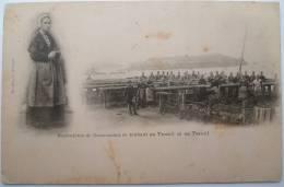 29 : Sardinières De Douarnenez Se Rendant Au Travail Et Au Travail - Animée - Vieux Métier - Petites Taches - Douarnenez