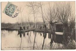CPA 91 VERT LE PETIT - Marais Bessiere (Pecheurs) - Vert-le-Petit