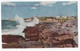 AMERICA ARGENTINA MAR DE PLATA ROCKY COAST BEACH AT THE ENGLISH OLD POSTCARD 1961. - Argentina