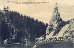 CPA - Artllerie Alpine En Maneuvres - Entrée Des Gorges De La Bourne - Régiments