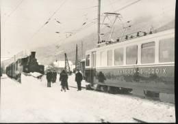 Train  ---  Le Premier Train Electrique A Baulmes --- 1945 - Trains