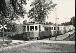Train  --- Train Pour Ste - Croix Au Depart De Six - Fontaines --- 1965 - Trains