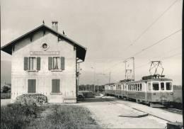 Train  ---  Train Pour Ste - Croix En Gare De Baulmes --- 1965 - Trains