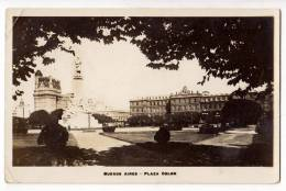 AMERICA ARGENTINA BUENOS AIRES THE COLON SQUARE OLD POSTCARD - Argentina