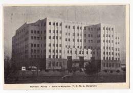 AMERICA ARGENTINA BUENOS AIRES THE ADMINISTRATION BUILDING F.C.N.G. BELGRANO OLD POSTCARD 1955. - Argentina