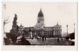 AMERICA ARGENTINA BUENOS AIRES THE CONGRESS SQUARE AND THE MONUMENT OLD POSTCARD - Argentina