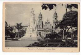 AMERICA ARGENTINA BUENOS AIRES THE MONUMENT AVELLANEDA Nr. 75 FOLDED OLD POSTCARD 1929. - Argentina