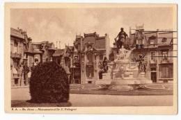 AMERICA ARGENTINA BUENOS AIRES THE MONUMENT OF DR. C. PELLEGRINI OLD POSTCARD 1931. - Argentina