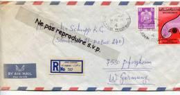 - Cover - ABU  DHABI - Recommandé, 2 Stamps, 1977, BY AIR MAIL, Cachet, For W Germany, Bon état, Voir Scan. - Abu Dhabi