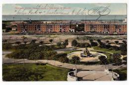 AMERICA ARGENTINA BUENOS AIRES THE COLON PARK AND CUSTOMS WAREHOUSES OLD POSTCARD - Argentina