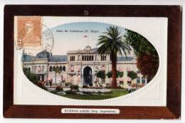 AMERICA ARGENTINA BUENOS AIRES THE GOVERNMENT HOUSE FOTO IN RELIEF FRAME OLD POSTCARD - Argentina