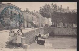 CPA:Juvisy-sur-Orge:Grande Rue, Pont Sur L´Orge:Cachet Militaire - Juvisy-sur-Orge