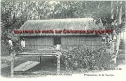 Cpa Établissements Français De L´Oceanie Préparation De La Vanille Colonies Françaises Tahiti - Tahiti