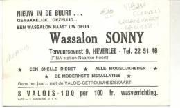 HEVERLEE-TERVUURSE VEST-RECLAMEKAART-OPENING-WASSALON-SONNY-RARITEIT!!-ZIE 2 SCANS - Leuven