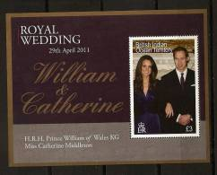 Ocean Indien BIOT 2011 N° BF 36 ** Famille Royale D´Angleterre, Mariage, Prince William De Galles, Catherine Middleton - Territoire Britannique De L'Océan Indien