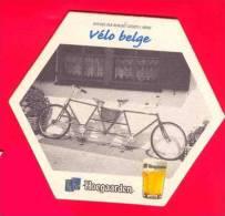 Bierviltje Sous Bock Hoegaarden Lot De 12 Pièces  Différentes Vélo Belge ... Etc Etc - Beer Mats