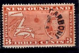 Newfoundland 1937 3 Cent Map Of Newfoundland Issue #234a - Terre-Neuve