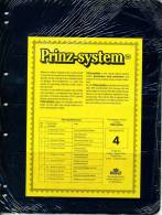 Prinz Single Side Stocksheets, 4 Strips Per Page, Pack Of 10 - Stock Sheets