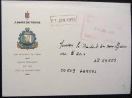 Limoges Armées - 519ème Régiment Du Train De La Rochelle - Marcophilie (Lettres)