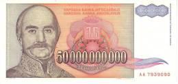 Yugoslavia P.136 50 000 000 000 Dinars 1993 Au - Yugoslavia