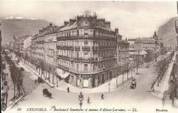 GRENOBLE  Boulevard Gambetta Et Avenue D'Alsace-Lorraine - Grenoble