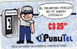 NICARAGUA - PubliTel C$25, El Telefono Publico, Mint - Nicaragua