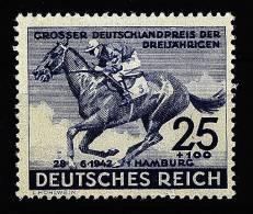 A1370) DR Blaues Band 1942 Mi.814 Mit Winziger Falzspur - Deutschland