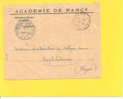 Lettre Franchise ACADEMIE NANCY 23 11 1914 - Storia Postale