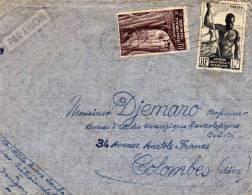 Enveloppe - Afrique Equatoriale Française - 10f Et 2f - Par Avion - Affanchis : Brazaville - A.E.F. (1936-1958)