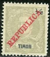 TIMOR, PORTUGUESE COLONY, RE CARLOS I, 1911, FRANCOBOLLO NUOVO (MLH*), Mi 113, YT 115, Afi 113, Scott 106 - Timor