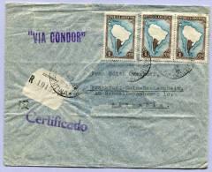 Registerd Air Mail Letter VIA CONDOR BUENOS AIRES To FRANKFURT MAIN 1938 (561) - Luftpost
