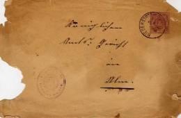 1888 De Niederstotzingen - Tampon Blason ??......O.A. ULM. - Germania